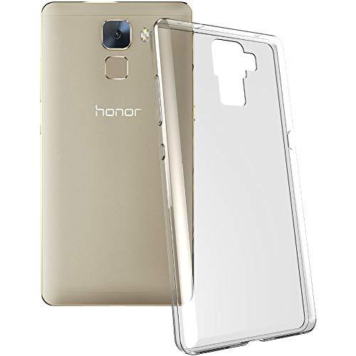 ebestStar - Huawei Honor 7 Hülle Handyhülle [Ultra Dünn], Premium Durchsichtige Klar TPU Schutzhülle, Soft Flex Silikon, Transparent + Panzerglas Schutzfolie [Honor 7: 143.2 x 71.9 x 8.5mm, 5.2''] - 3