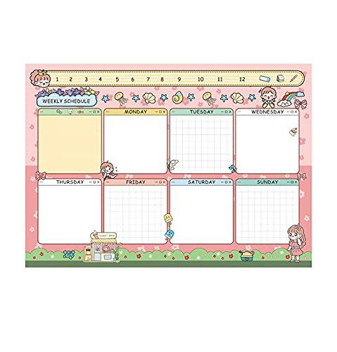 Bloc de notas para estudiantes, planificador mensual, semanal, diario para estudiantes, organizador de rutinas escolares, calendario diario para hacer listas, bloc de notas, 50 páginas