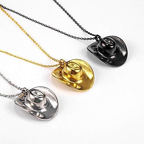 BAISHIU Titan Stahl Cowboy Hut Geformt Feuerbestattung Urne Anhänger Halskette Asche In Urne Feuerbestattung Schmuck Für Männer Frauen Memorial Halskette
