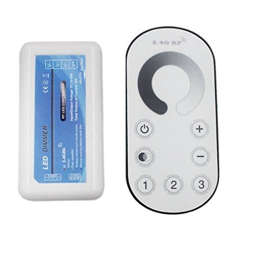JOYLIT LED Dimmer Touch Control Con Telecomando 2.4G RF DC 12V-24V 12A Controller per Luci LED a Singolo Colore