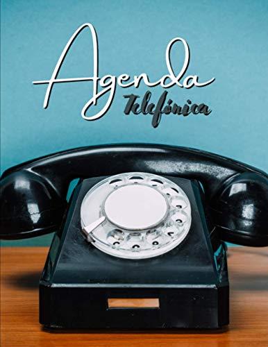 Agenda Telefónica Abecedario: Índice alfabético A-Z | Tamaño A4, agenda práctica | 728 entradas | Libreta de direcciones