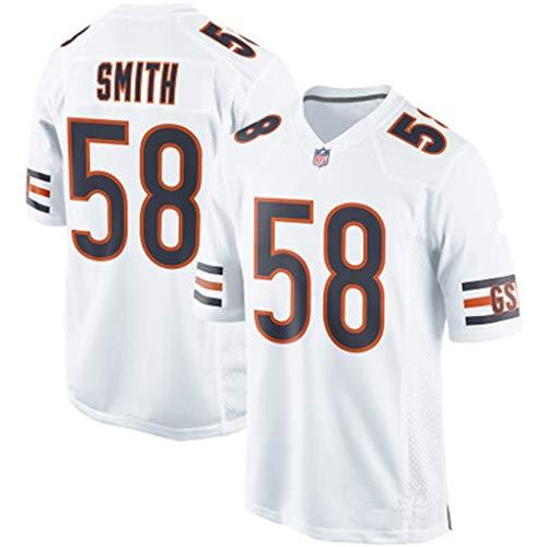 ZSZKFZ Rugby-Pullover zum 100. Geburtstag, Chicago Bears, Smith # 58 Uniforms, weiß, L