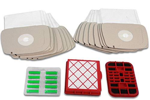 Cleanwizzard - Juego de 20 bolsas para aspiradora LUX-1, Lux-820, 1 sistema de filtro activo, 1 filtro de carbón activo, 10 desodorantes de aspiradora