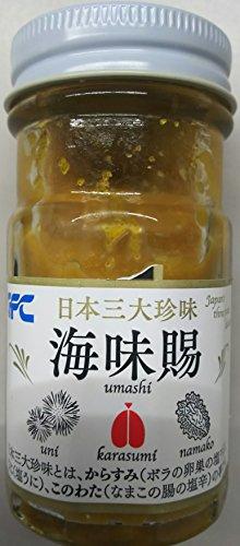 高級珍味 海味腸 ( うまし ) 50g 日本三大珍味 ( カラスミ、このわた、ウニ ) 解凍後そのままお召し上がり頂けます。