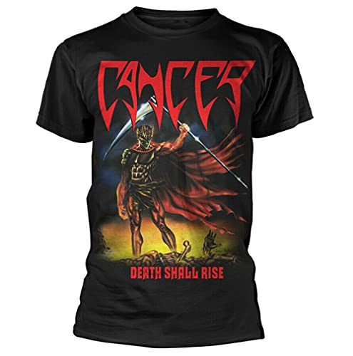 Cancer Death Shall Rise Shirt S-XXL Thrash Death Metal Band T-Shirt New Black L