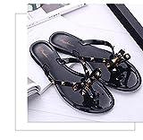 Zapatillas Casa Chanclas Sandalias Women Slippers Flip Flops Outdoor Beach Slides Soft Sole Sandals Women's Shoes-Black_38