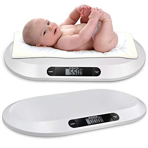 Báscula digital para bebés hasta 20 kg, con pantalla LCD, báscula digital, báscula de cocina, báscula para animales, función de tara, apagado automático