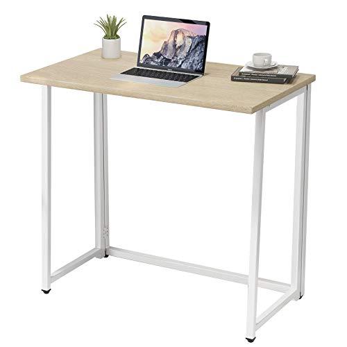 Klappbarer Computertisch - Kompakter Schreibtisch für kleine Räume Keine Montage erforderlich Home-Office-Schreibtisch (Eiche)