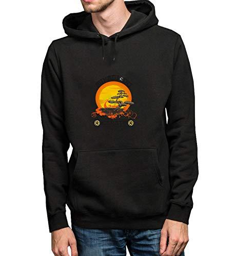 GlamourLab Karate Kid Miyagi Do Zen Spirit Life_R2314 Hoodie Kapuzenpullover Jumper Sweater Pullover Sweatshirt Unisex Black Gift- 2XL Black Hoodie
