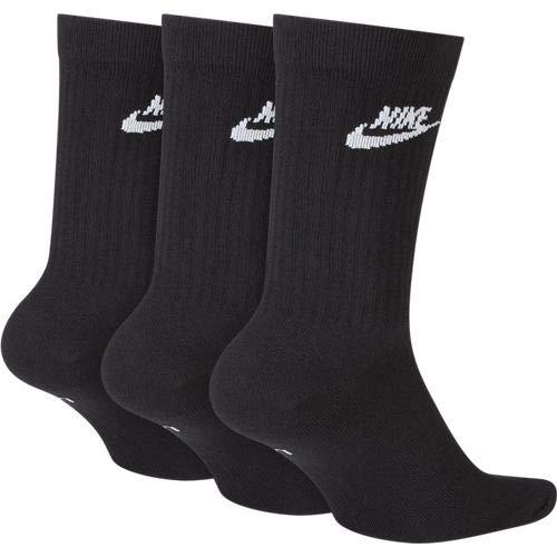 Nike U Nk NSW Evry Essential Crew Socks, Unisex Adulto, Black/White, M