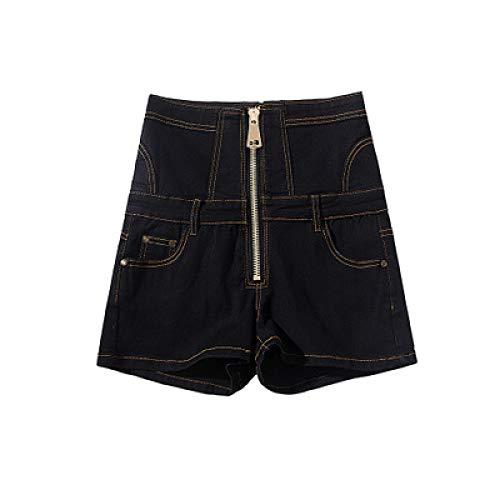 Pantalones Cortos de Mezclilla para Mujer Pantalones Cortos de Mezclilla con Cremallera Personalizados de Cintura Alta de Verano Pantalones Cortos de Mezclilla Casuales de Abdomen con Cordones 6XL