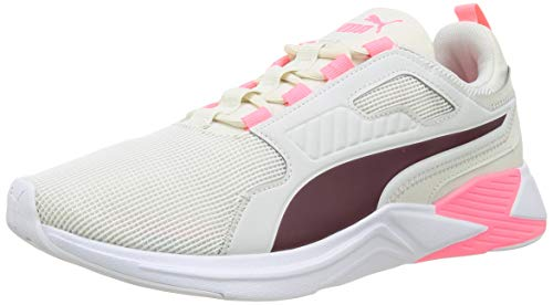 PUMA Damen Disperse Xt WN's Gymnastikschuh, Vaporous Gray-Burgundy-Luminous Peach, 41 EU