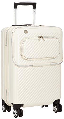 [レジェンドウォーカー] スーツケース ジッパー ハードスーツケース フロントオープン 機内持ち込み可 6024-48 保証付 34L 54 cm 3.1kg アイボリー