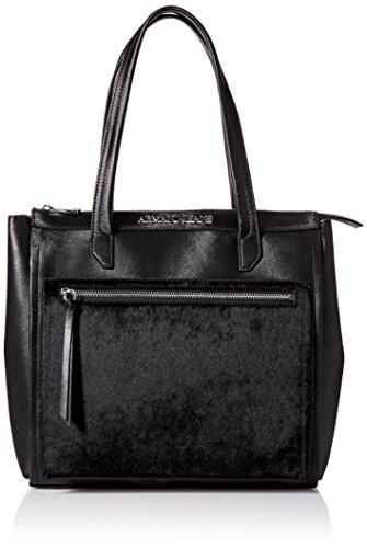 Armani Jeans borsa donna a spalla shopping nuova originale nero