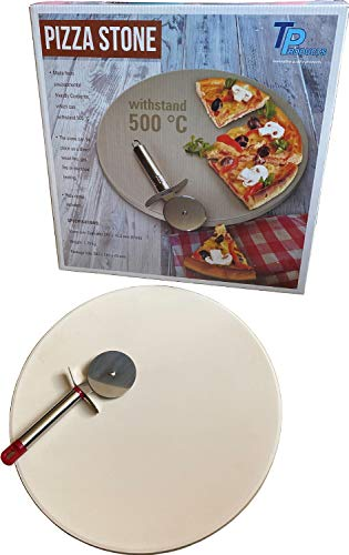 Delete La Pizza con Piedras engastadas, 2pcs Incluye cerámica Redondo de...