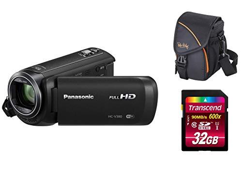 Panasonic HC-V380EG-K Full HD Camcorder Set Bundle + Tasche + 32 GB Speicherkarte V380