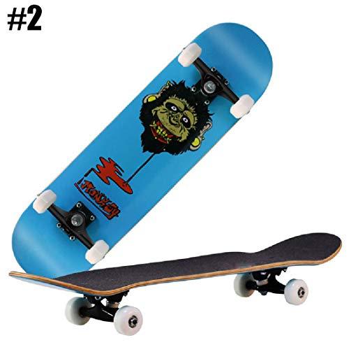 ZTY 79 * 20CM Doppel Rocker, Stunt Skateboard für Männer und Frauen kühlen,#2-OneSize