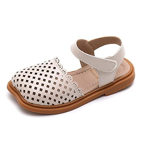 Baby Girls Huele Sandalias Transpirables Summer Cuna Zapatos Vestido Zapatos Planos Adecuado (Color : White, Size : 15.5cm)
