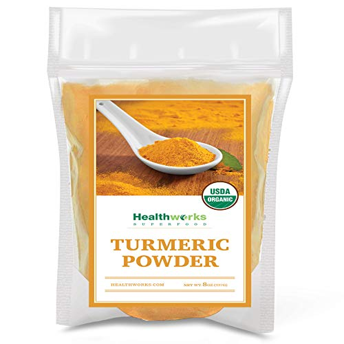 Healthworks Turmeric Powder (8 Ounces) | Ground Raw Organic | Curcumin & Antioxidants | Keto, Paleo, Vegan, Non-GMO | Anti-Inflammatory