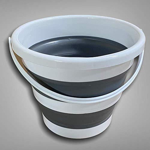 BENSON - Secchio Pieghevole 5 Litri in Silicone - Secchiello richiudibile 5l per Pulizie bucato Campeggio Pesca - Secchio Portatile Acqua