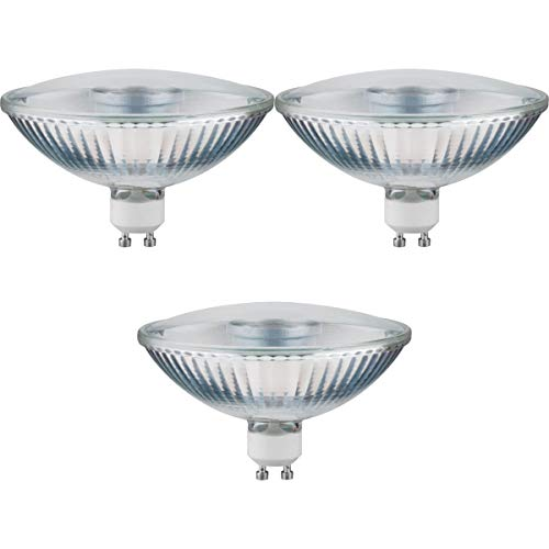 Paulmann 3er Pack 285.14 LED QPAR111 4W GU10 230V Warmweiß 24° 28514 Leuchtmittel Lampe