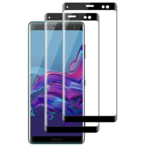 DOSMUNG [2 Stück] Schutzfolie für Sony Xperia XZ3 Panzerglas, 3D Curved Volle Deckung, Anti-Bläschen, Anti-Kratzen, 9H Härte, HD Klar Panzerglasfolie für Sony Xperia XZ3