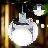 Lampe Solaire de Charge 45 LED Ampoule Imperméable à 90° Pliage Solaire Urgence Lumière Camping Jardin...