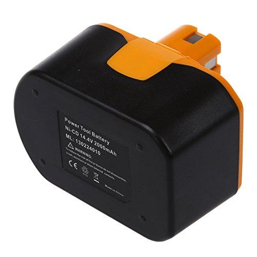 REFURBISHHOUSE l'Outil d'Alimentation Batterie de remplacement pour RYOBI 14,4V, RY62, RY6200, RY6201, RY6202, 130224010, etc noir et jaune