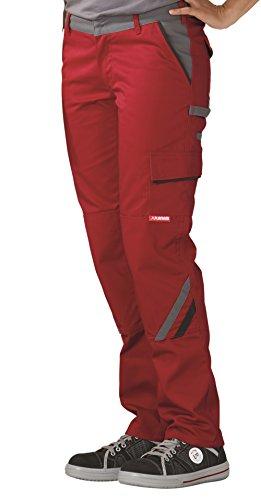 Planam Damenbundhose Highline in vielen Farben und Größen (40, rot/Schiefer/schwarz)