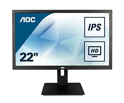 AOC I2275PWQU 54,6 cm (21,5 Zoll) Monitor (VGA, DVI, HDMI, IPS Panel, 4ms Reaktionszeit, DisplayPort, 1920x1080, 60 Hz, FlickerFree) schwarz