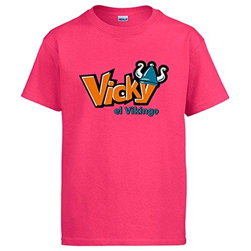 Diver Camisetas Camiseta Vickie el Vikingo - Rosa, L