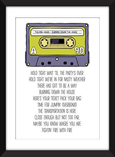 Talking Heads - Burning Down the House Lyrics - Unframed Print/Ungerahmter Druck