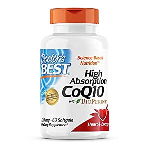 DOCTOR'S BEST HIGH ABSORPTION COQ10: Easy-to-absorb form of a key nutrient that powers and protects heart vitality, cardiovascular health and cellular energy. CoQ10 also supplies antioxidant support to the heart, where it is naturally concentrated. S...