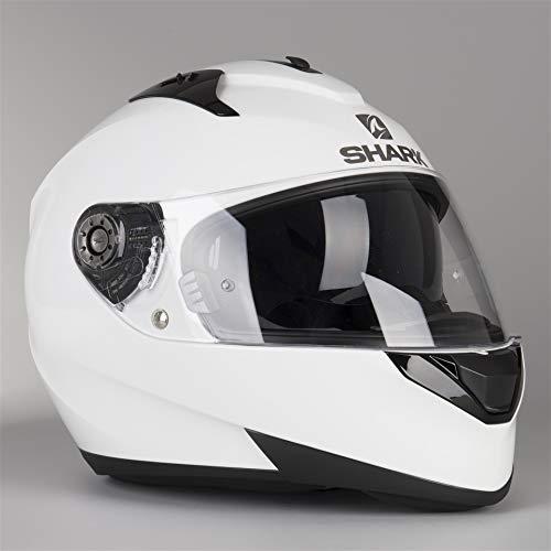 Shark casco Moto ridill Blank WHU, color blanco, talla L