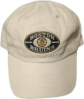 New! Boston Bruins Adjustable Curved Bill Hat Buckle Back Cap - Khaki