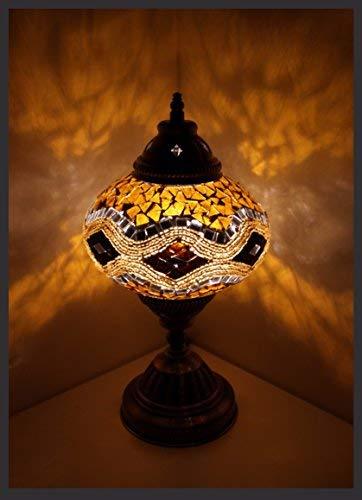 Mosaiklampe Mosaik - Tischlampe L Stehlampe orientalische lampe Gold Samarkand-Lights