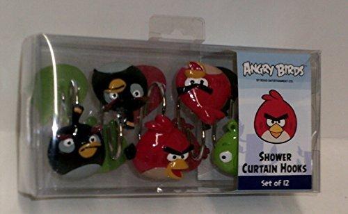 Rovio - Ganci per Tenda da Doccia, Motivo: Angry Birds, Confezione da 12
