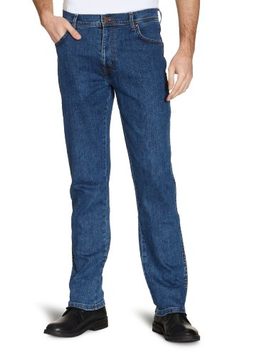 Wrangler Men's TEXAS STRETCH LIGHT STONE Straight Jeans, Blue (Lightstone...