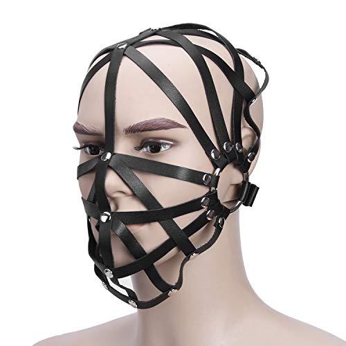 L grote baas vrouwen kruis gestreepte kap binden masker met capuchon vast speelgoed