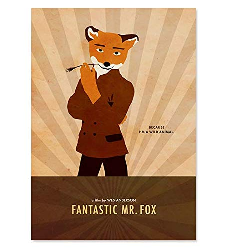 Amazon Com Wes Anderson Fantastic Mr Fox Minimalist Movie Poster Artwork Print Unframed Print Office Decor Home Decor Wall Hanging Cafe Decor Handmade