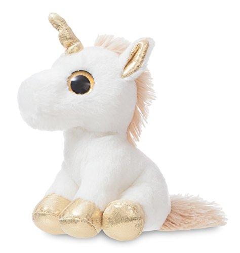 Aurora World 60836Sparkle Tales Twinkle Unicorno Peluche, 17,8cm, Colore: Oro