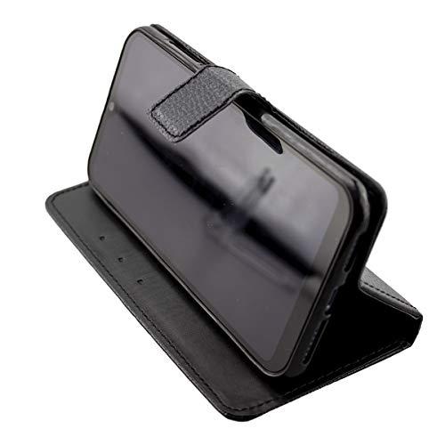 caseroxx Handy Hülle Tasche kompatibel mit Archos Oxygen 63 Bookstyle-Hülle Wallet Hülle in schwarz