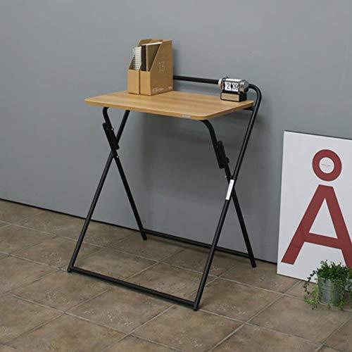 TYZXR Klapptisch verstellbar Tragbar/Abnehmbar/Computertisch/Studiertisch/Einzel-Esstisch Kann gedreht Werden (Farbe: 1#)