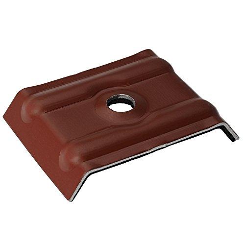 100 Stück Kalotten 35/207 farbig für Wellplatten Lichtplatten Trapezblech Rotbraun RAL 8012