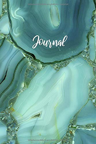 Journal: Notizbuch A5 Dotted: Dot Grid Notebook - Journal gepunktet - 120 Punktraster Seiten - Blanko Heft Für Bullet Journaling-  Softcover - Marmor