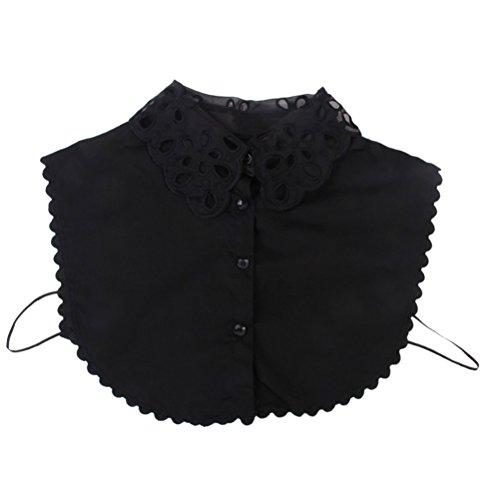 LEORX Spitze Fälschungs Kragen abnehmbare Halb Hemd Bluse