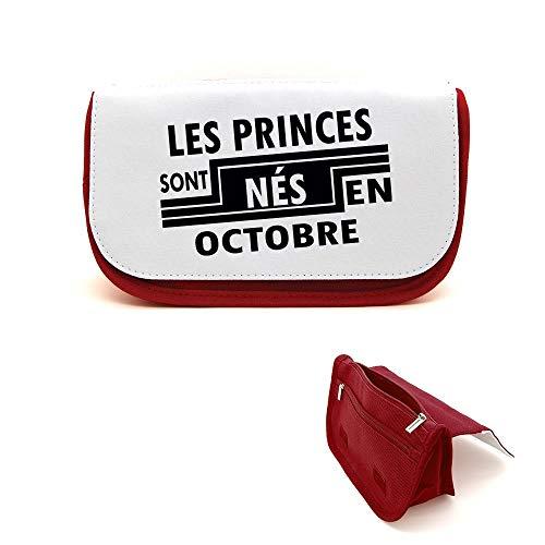 Mygoodprice Trousse de beauté étui maquillage princes nés en octobre Rouge