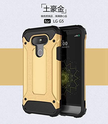 tinyue® Armadura Series TPU + PC Doble protección Funda Anti caída a Prueba de Golpes Duradero Phone Case para LG G5 / LG G5 SE Smartphone Dorado