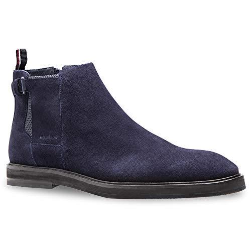 Strellson new harley boot mfz 2 Herren Leder Stiefel, dunkelblau, EU 45
