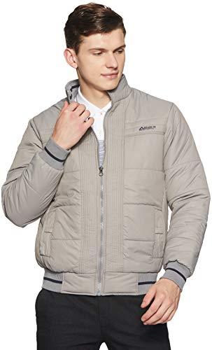 Qube By Fort Collins Men's Nylon Jacket (1284 SMU_Grey_XL)